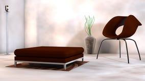 Специальная мебель дизайна в выставочном зале Стоковое Изображение RF
