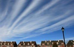 Специальное облако на небе стоковое изображение rf