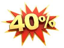 Специальное предложение 40 процентов иллюстрация штока