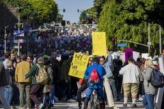 Специальное событие и протестующие в марте женщин вокруг Лос-Анджелеса Стоковая Фотография RF