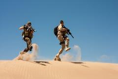 Специальное Ops в пустыне Стоковые Фото