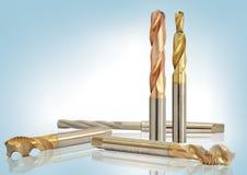 Специальные инструменты металла, сверла стоковое фото rf
