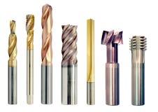 Специальные инструменты металла, сверла стоковое изображение rf