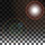 Специальные эффекты на прозрачной предпосылке Стоковые Фото