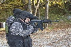 Специальный антитеррористический отряд Стоковые Фотографии RF