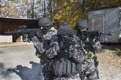 Специальный антитеррористический отряд Стоковые Фото