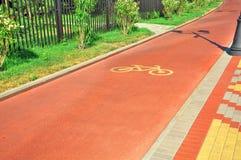 Специальный велотрек для перехода Стоковые Изображения