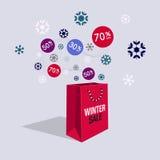 Специальный символ скидки продажи предложения зимы Стоковое Фото