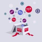 Специальный символ скидки продажи предложения зимы Стоковая Фотография RF