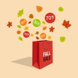 Специальный символ скидки продажи предложения падения Стоковые Изображения