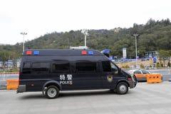 Специальный стоп mpv полиции дорогой Стоковая Фотография RF