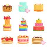 Специальный случай украсил ассортимент тортов бесплатная иллюстрация