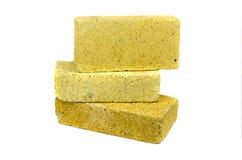 3 специальных кирпича для изолированного камина печи Стоковое Изображение