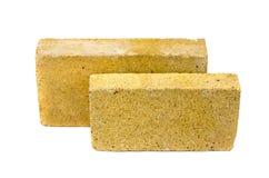 2 специальных кирпича для камина печи изолированного на белизне Стоковая Фотография RF