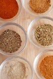 Специи для подготовляют вкусную еду Стоковые Изображения
