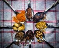 Специи Индонезии для традиционной еды стоковое фото