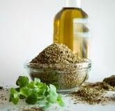 Специи и оливковое масло душицы Стоковая Фотография