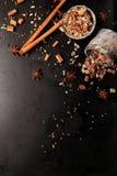 Специи и сахар для горячих напитков зимы Стоковые Изображения