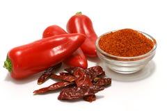 специи красного цвета горячих перцев Стоковые Изображения RF
