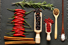 специи красного цвета горячих перцев chili Стоковое Изображение