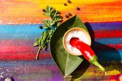 специи красного цвета горячих перцев chili Стоковое фото RF