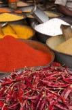 Специи на индийском рынке специи Стоковое Изображение