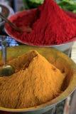 Специи на рынке около базара Nala, Бангалора, Индии Стоковые Фотографии RF