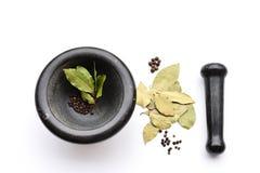 специи пестика ступки трав Стоковые Фото