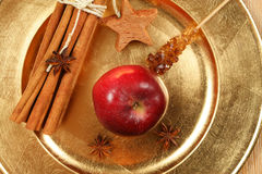 специи состава рождества яблока Стоковое Фото