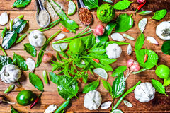 Специи Таиланд и домашние овощи Стоковое Фото
