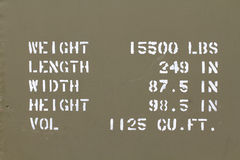 Спецификации военного транспортного средства Стоковые Фото