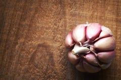 специя головки чеснока предпосылки сырцовая Стоковое Фото