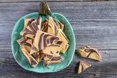 Специя и шоколад тыквы завихрялись конфета расшивы Стоковые Изображения RF