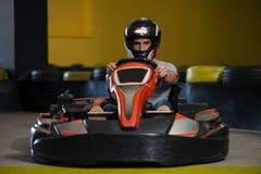 Спеша гонка Karting барьеров Kart и безопасности Стоковые Изображения RF