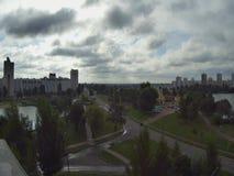 Спеша облака, timelaps над городом Gomel в Беларуси акции видеоматериалы