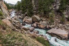 Спеша речная вода потока до каньон Колорадо 11 миль Стоковая Фотография