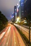 Спешка ночи Гонконга стоковое изображение