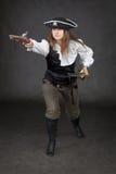 спешка пирата пушки девушки нападения к Стоковые Фотографии RF