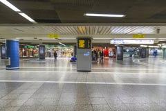 Спешность людей в станции МЕТРО Стоковое фото RF