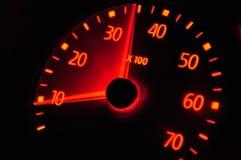 спидометр европейца автомобиля Стоковая Фотография RF