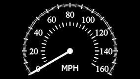Спидометр идя к максимальной скорости и после этого замедляет до нул бесплатная иллюстрация