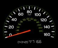 спидометр 0 mph Стоковое Изображение