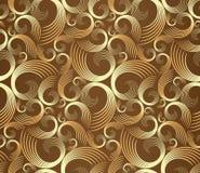 спирали золотистой картины безшовные Стоковое Фото