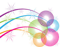 спирали sparkle иллюстрация вектора