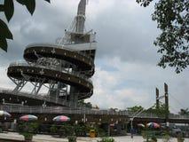 Спиральная башня бдительности, парк портового района Tai Po, Гонконг стоковое фото