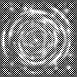 Спиральная иллюстрация вектора дизайна предпосылки конспекта точки полутонового изображения Стоковые Изображения RF