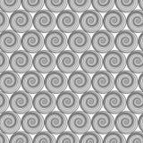 Спиральная линия геометрический орнамент Стоковое Изображение