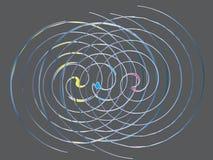 Спиральная художническая абстракция иллюстрация вектора