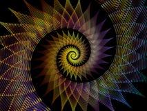 Спиральный фон Стоковое Изображение