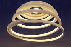 Спиральн светильник Стоковые Фотографии RF